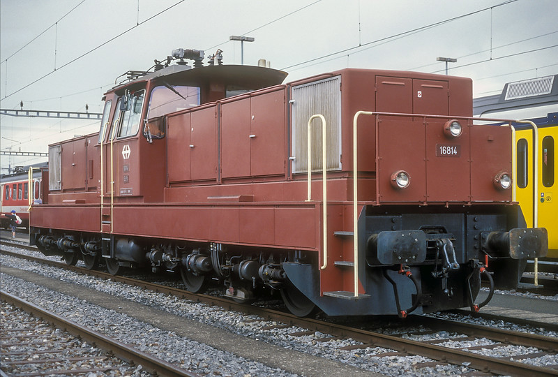 Ee6/6ii 16814 was on display at the SBB 150 celebrations at Lausanne on 14 June 1997
