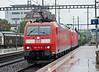 DB 185 131 + 185 138 Pratteln 31 May 2013