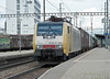 Dispolok (on hire to TXL) ES64 F4-096 Pratteln 30 May 2013