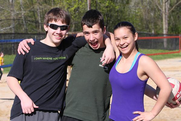 Sand volleyball field trip 4/26/13