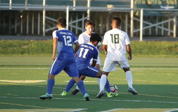 Varsity boys Soccer vs Hamilton 9-13-16