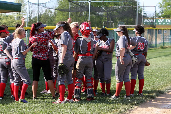 Varsity softball vs Princeton  4-26-17