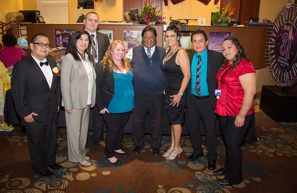 L.-R: Bobby, Eden, Erik, Libby, Chairman Daniel J. Tucker, Tina Muse, Rocky and Lau