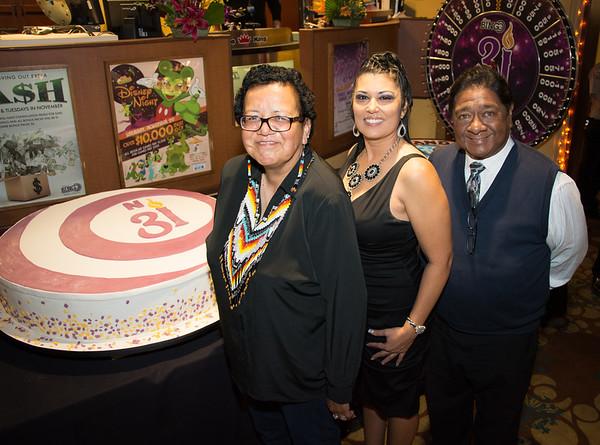 Linda Brown, Tina Muse and Chairman Daniel J. Tucker