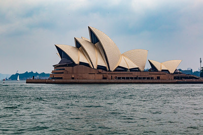 Sydney Opera House as seen from the West side. Sydney New South Wales Australia.