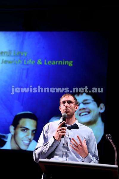 16-6-14. Sydney communal event. More than 500 people attended a meeting at the Moriah College auditorium to show solidarity for the three kidnapped Israeli teenagers. Photo: Giselle Habar.