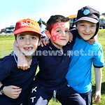 Kesser Torah College Infants Primary Sports Carnival. Akiva Winton, Aiden Suntup, Binyamin Schwarz.
