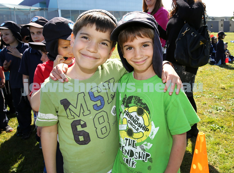 Kesser Torah College Infants Primary Sports Carnival. Benjamin Munoz, Ariel Moss.