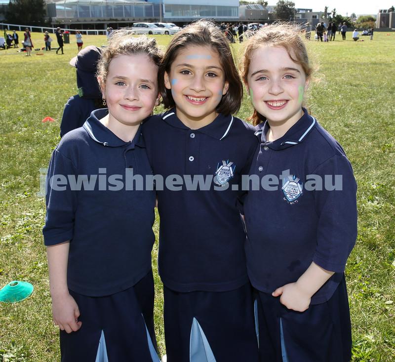 Kesser Torah College Infants Primary Sports Carnival. Liorah Kessel, Tova Hinde Schwarz, Adina Channen.