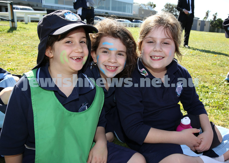 Kesser Torah College Infants Primary Sports Carnival. Leah Tuvel, Tzofia Isacowitz Chaya Groner.