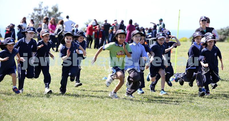 Kesser Torah College Infants Primary Sports Carnival. Yr 2 Boys 400m race.