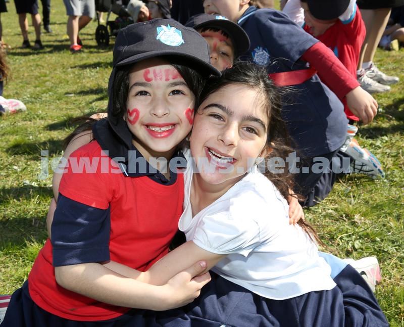 Kesser Torah College Infants Primary Sports Carnival. Toby Komar, Eden Ozana