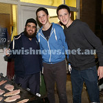 Combined shules Lag Ba'Omer celebration at Tzemach Tzedek Shule. BBQ Crew Mendy Joseph, Davi Smith, Kovi Smith.