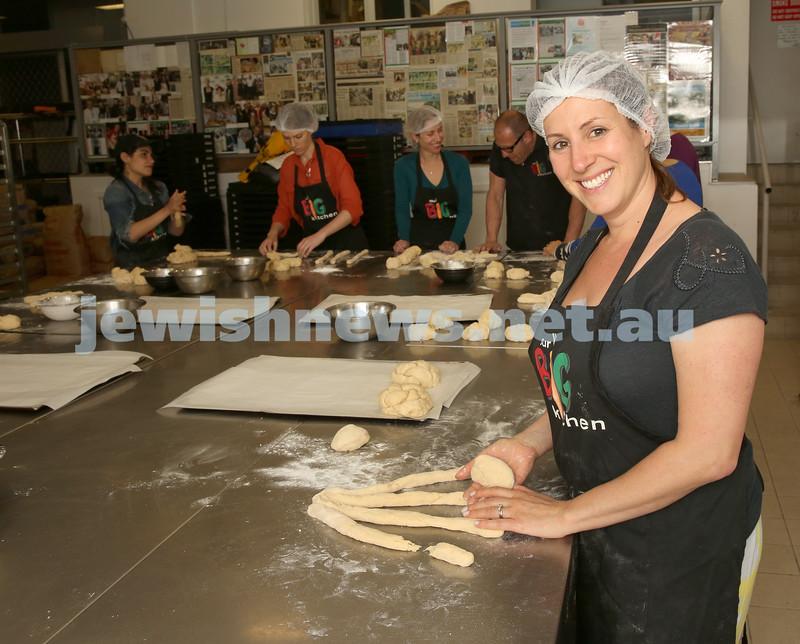 Gluten Free Challah baking at OBK. Bianca Maserow prepares her challah dough.