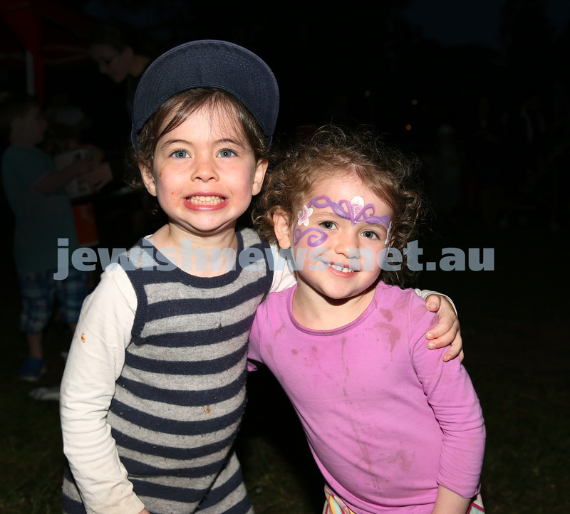 Pizza In The Hut Succot Party at Barracluff Park in Bondi. Chana & Golda Moss.