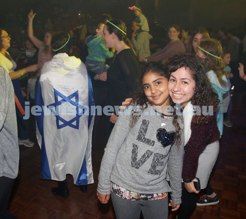 Communal Yom Haatzmaut Celebration at Moriah College. Dancing during the concert.