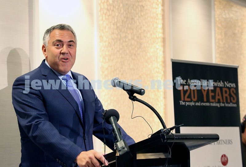 AJN 120th. Joe Hockey