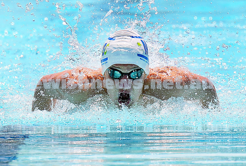 Jewish Swimming Championships held at Des Renford Pool in Maroubra. Alon Pajor in the 50m Butterfly.