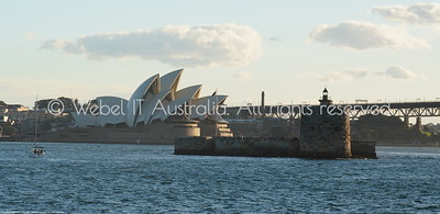"""Sydney Opera House and """"Pinchgut Island"""" (Fort Denison) from the Manly Ferry"""