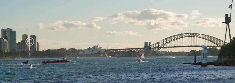 Sydney Harbour Bridge and Opera House from the Manly Ferry