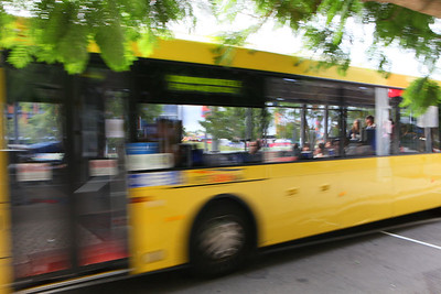 Bus fast approaching