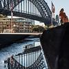 Reflection of Sydney Harbour Bridge.