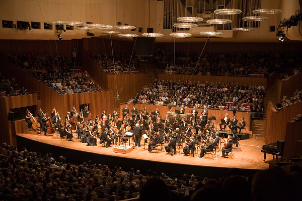 The Sydney Philharmonic Orchestra inside the Opera House.