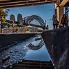 View of Sydney Harbour Bridge from Overseas Passenger Terminal.
