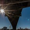 Under the Sydney Harbour Bridge.