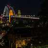 View of Sydney Harbour Bridge from Observatory Hill.