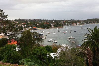 Boats floating around the harbour