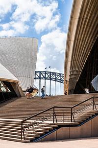 A peek at Sydney Harbour Bridge from Sydney Opera House.
