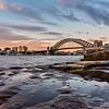 View of Sydney Harbour Bridge from Barangaroo.