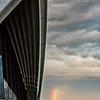 Sydney Opera House and rainbow.