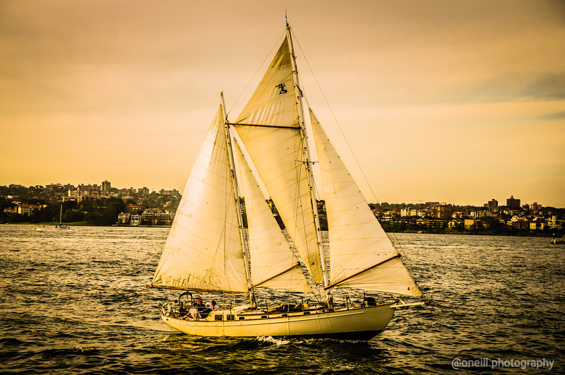 Sailing in Sepia