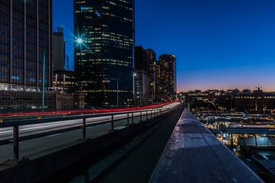 Traffic on Cahill Expressway