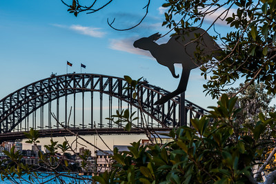 View of Sydney Harbour Bridge from Barangaroo.