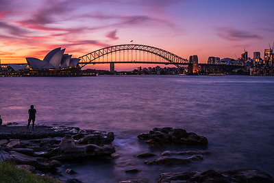Sunset in Sydney.