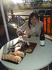 """A small cheese taster and a """"little"""" wine for our first stop. Yes, the amount of food took us by surprise!"""