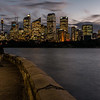 View of Sydney's downtown skyline from Royal Botanic Gardens.