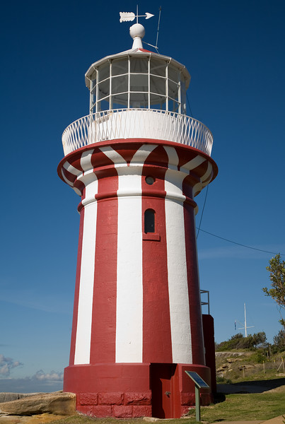 "The <a href=""http://www.lighthouse.net.au/lights/NSW/Hornby/Hornby%20Lighthouse.htm"" target=""_new"">Hornby Lighthouse</a> at South Head, a short walk from Watson's Bay."