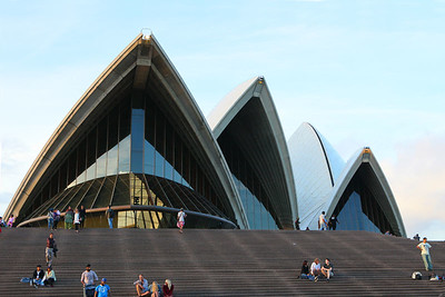 Opera house with stairs leading to it