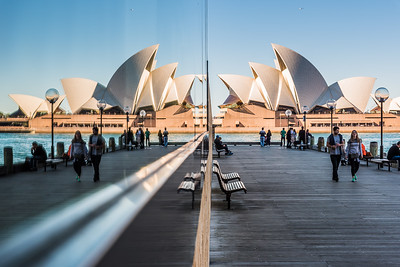 Reflection of Sydney Opera House.