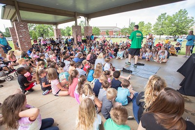 BB Comer Library hosted Animal Adventures with Jamie Hacker Monday at the pavilion at Blue Bell Park.