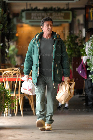 Sylvester Stallone make shopping at the Beverly Glen.