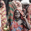 Young Topossa girl in the market