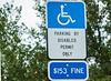 100131-1221 Disabled Parking Sign - FL