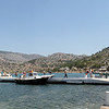 Panormitis monastery + ferry panorama.