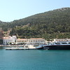 Approaching Panormitis monastery on the southern part of Symi island.
