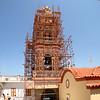 Panormitis steeple + scaffolding.